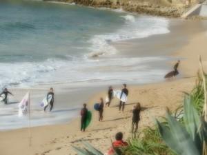 Carcavelos surfers beach